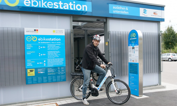 There are now 14 bikesharing stations with pedelecs across the Stuttgart region. Image: e-mobil BW