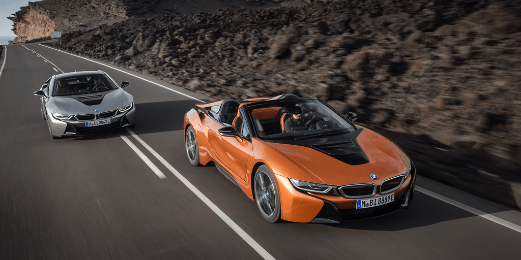 Bmw Unveils I8 Roadster And Facelifted I8 Coupe Version Electrive Com