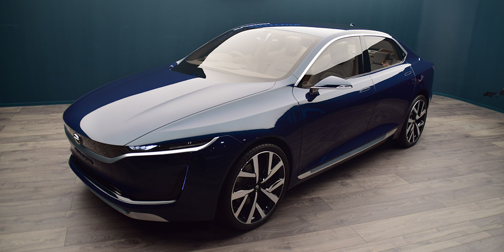 Tata motors shows electric sedan concept evision for Tata motors electric car