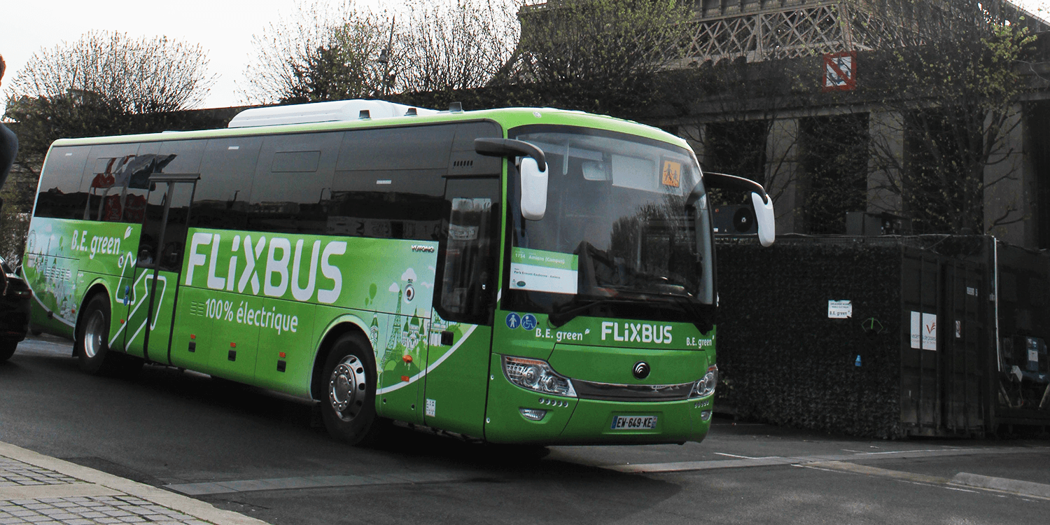 flixbus launches first long distance electric bus route in france. Black Bedroom Furniture Sets. Home Design Ideas