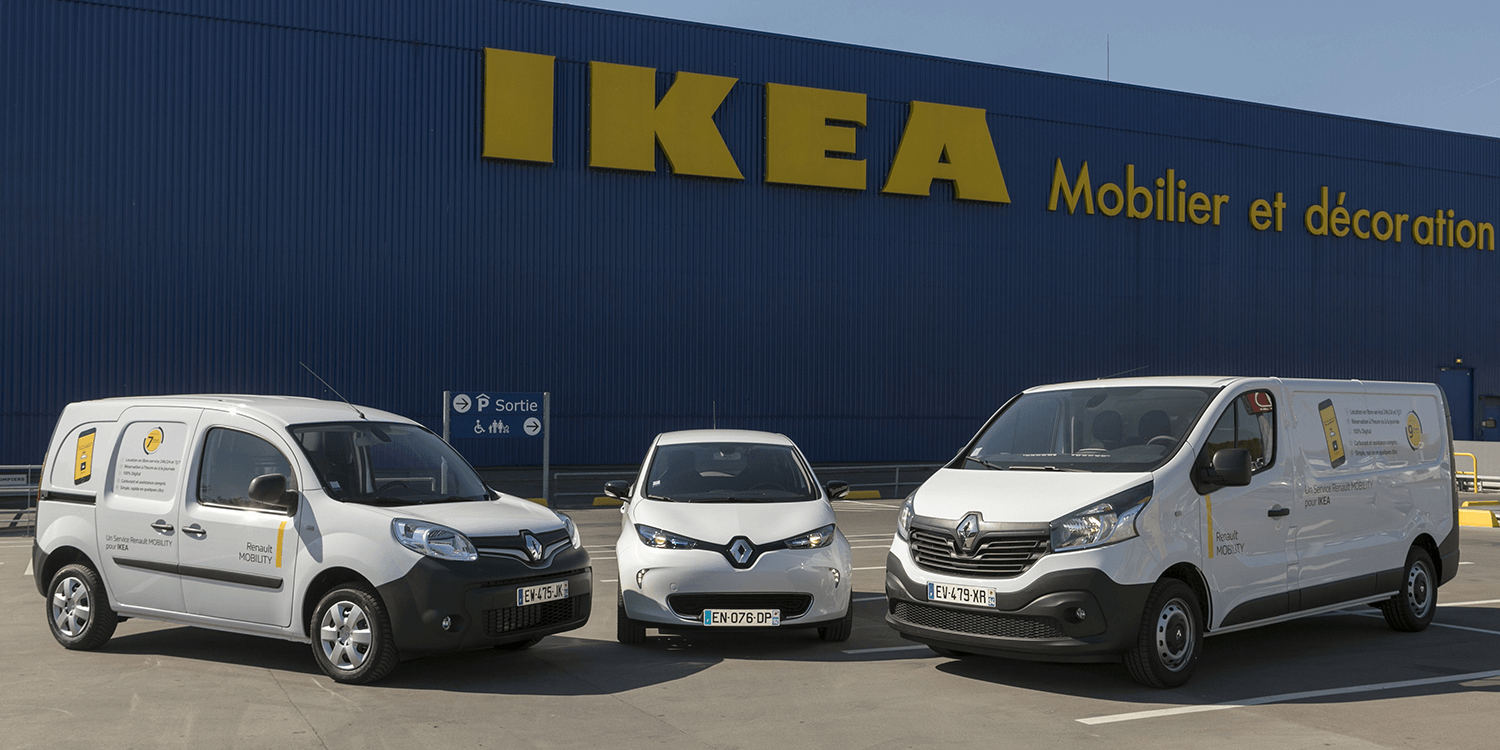 renault and ikea introduce car sharing concept in france. Black Bedroom Furniture Sets. Home Design Ideas