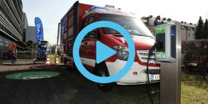 kreisel-electric-rosenbauer-linz-ag-feuerwehr-einsatzfahrzeug-fire-brigade-02-video