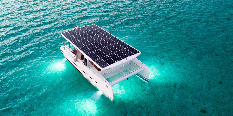 Solar Electric Catamaran Launches In Bora Bora Video