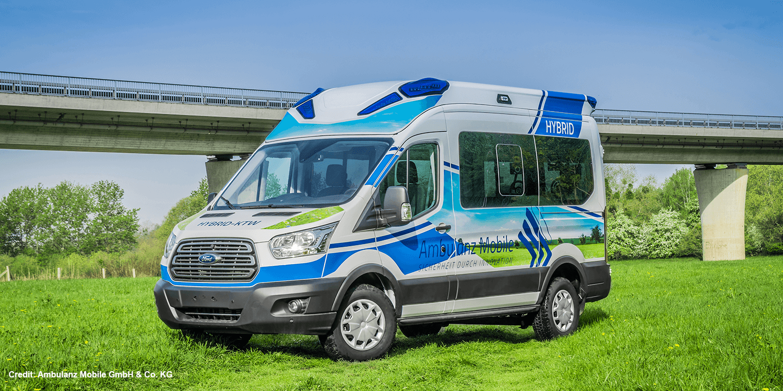 Ford Transit converted to hybrid ambulance - electrive com