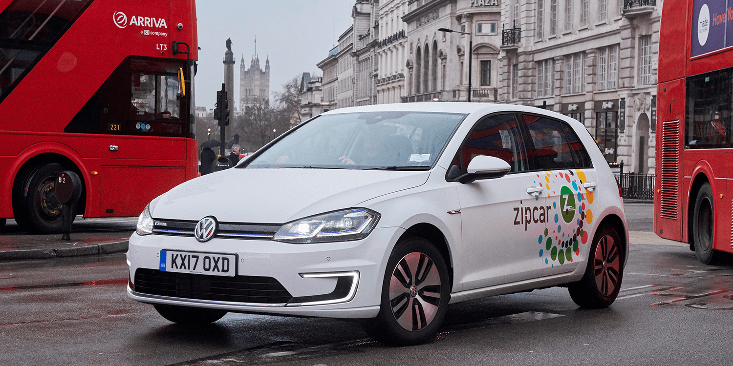 Zipcar Carsharing London Uk Volkswagen E Golf