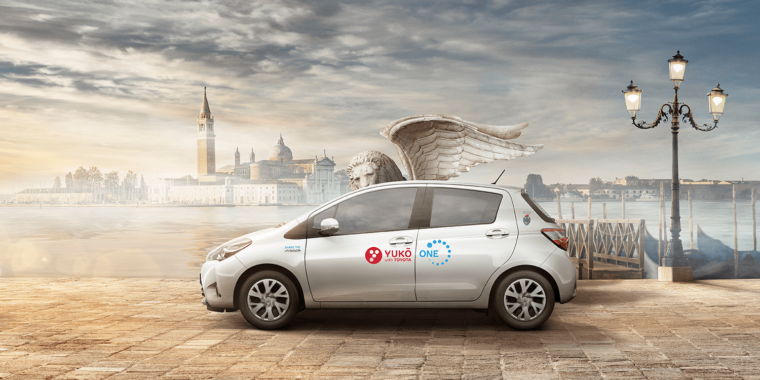 Italy: Toyota\'s hybrid car sharing YUKÕ launches in Venice ...