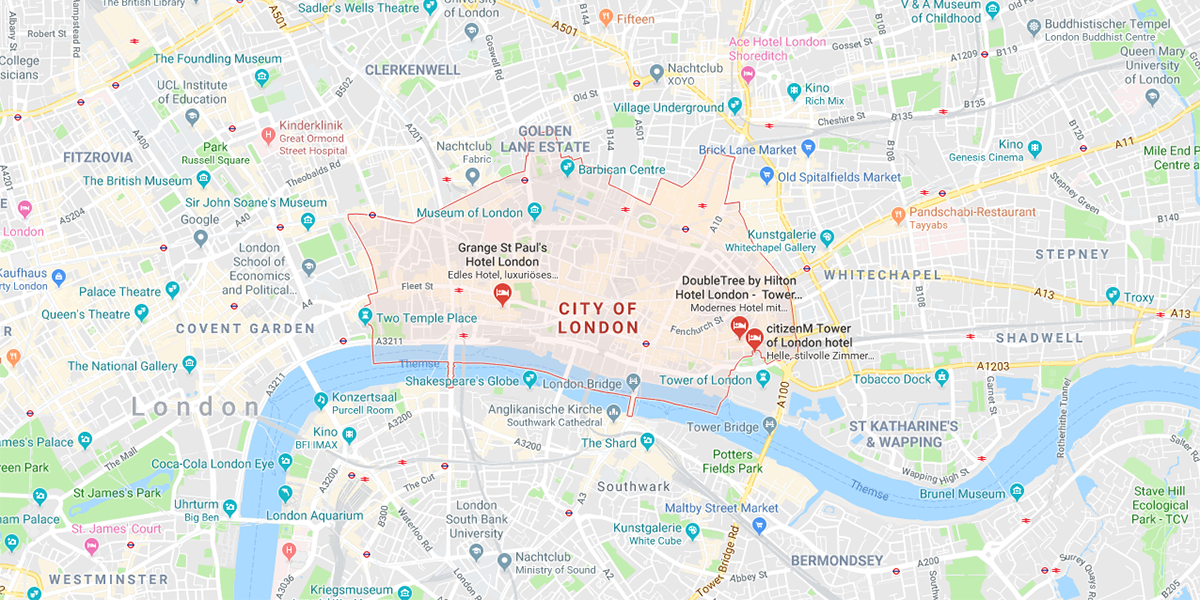 Map Of City Of London.City Of London Charging Parking Fees Based On Emissions Electrive Com