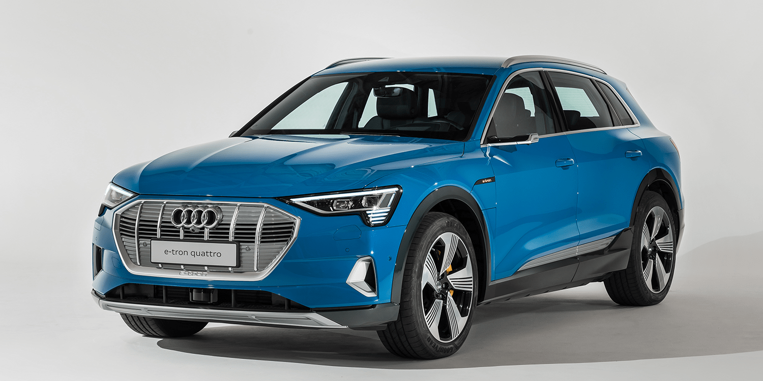 Audi Presents Their First Electric Car Etron In California - Audi e car