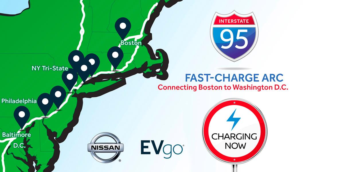 Nissan & EVgo open EV charging corridor in the USA