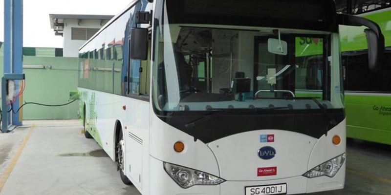 BYD, ST and Yutong share Singapore electric bus order