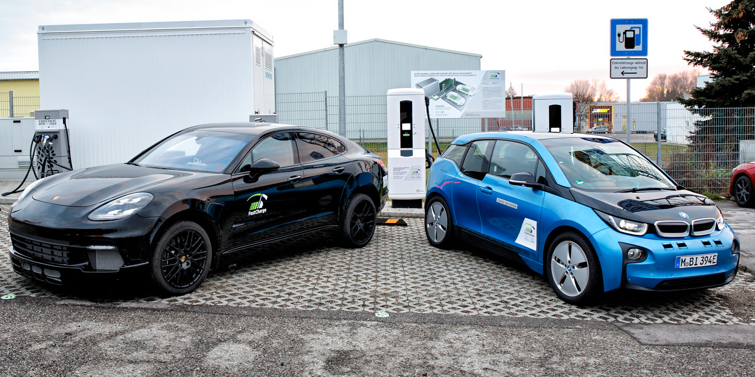 Porsche plugs into 450 kW EV charging station