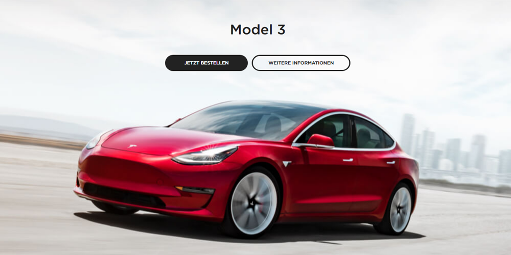 Tesla Model 3 can now be ordered in Europe - electrive com