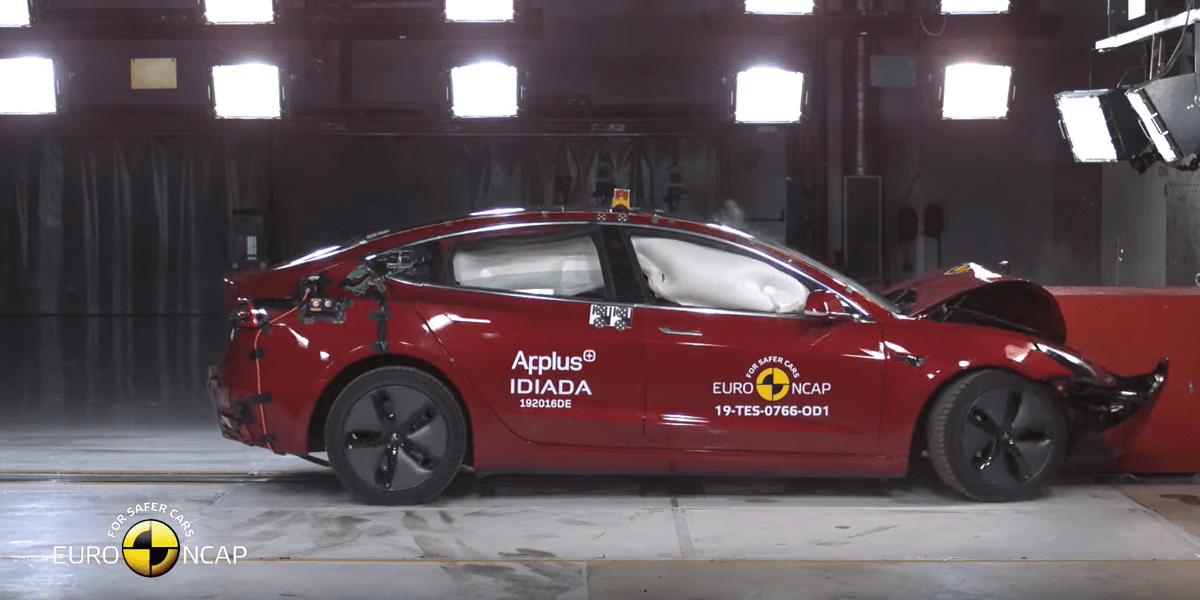 Top points for Tesla Model 3 in Euro NCAP crash tests - electrive com