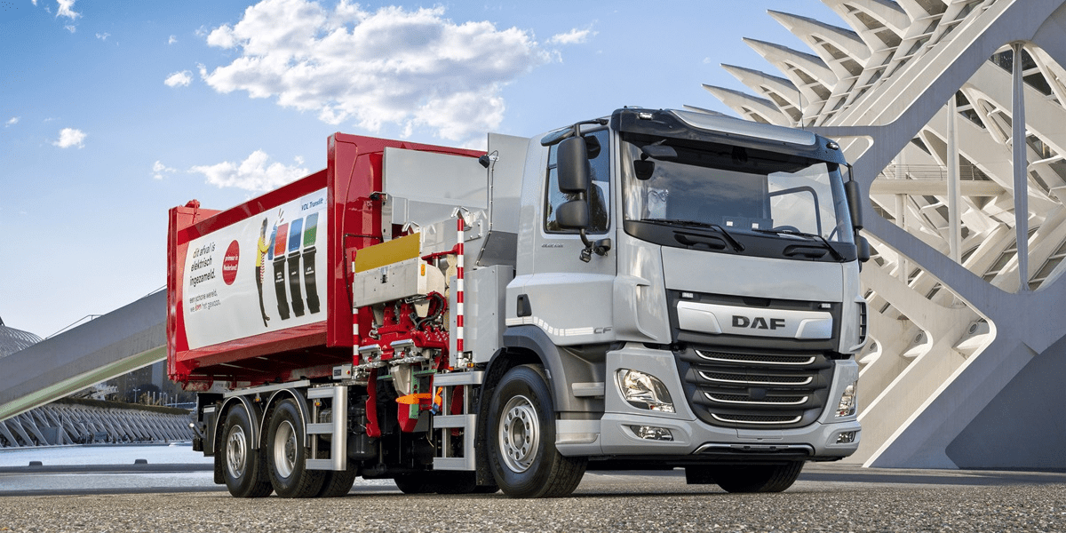 Best Garbage Disposal 2020.Daf Unveils 3 Axle Electric Garbage Disposal Truck