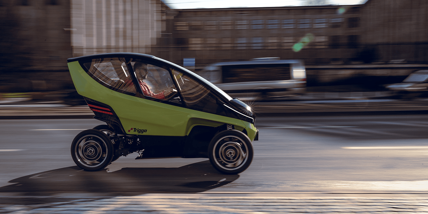 Triggo Reveals Light Electric Vehicle With Adjustable Width Electrive Com