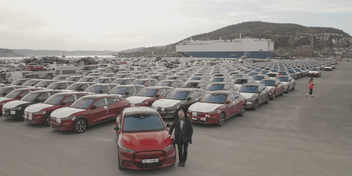 First Mustang Mach-E shipment arrives in Norway
